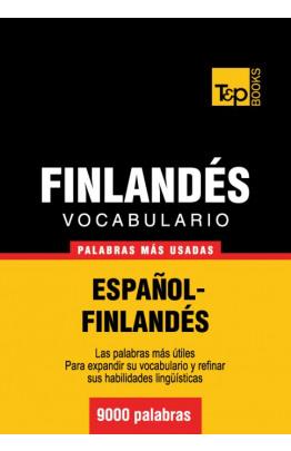 Vocabulario español-finlandés - 9000 palabras más usadas
