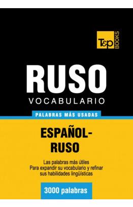 Vocabulario español-ruso - 3000 palabras más usadas