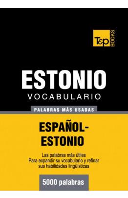 Vocabulario español-estonio - 5000 palabras más usadas