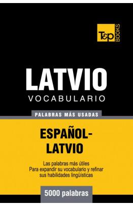 Vocabulario español-latvio - 5000 palabras más usadas