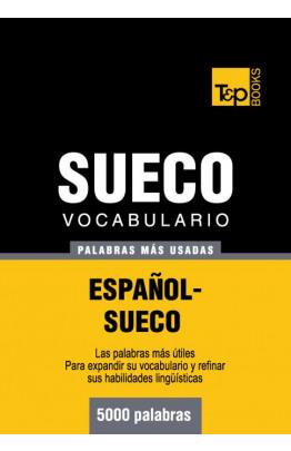 Vocabulario español-sueco - 5000 palabras más usadas