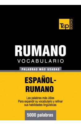 Vocabulario español-rumano - 5000 palabras más usadas