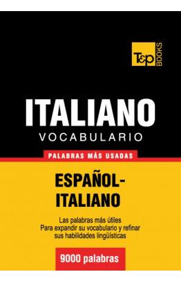 Vocabulario español-italiano - 9000 palabras más usadas