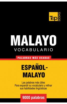 Vocabulario español-malayo - 9000 palabras más usadas