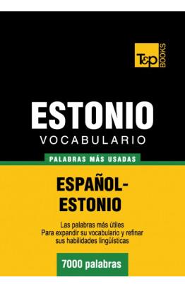 Vocabulario español-estonio - 7000 palabras más usadas