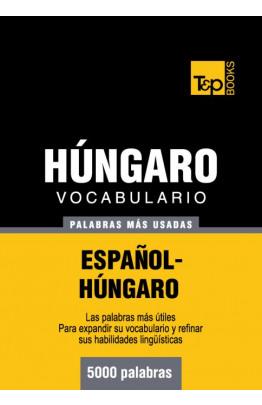 Vocabulario español-húngaro - 5000 palabras más usadas