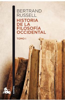 Historia de la filosofía occidental I